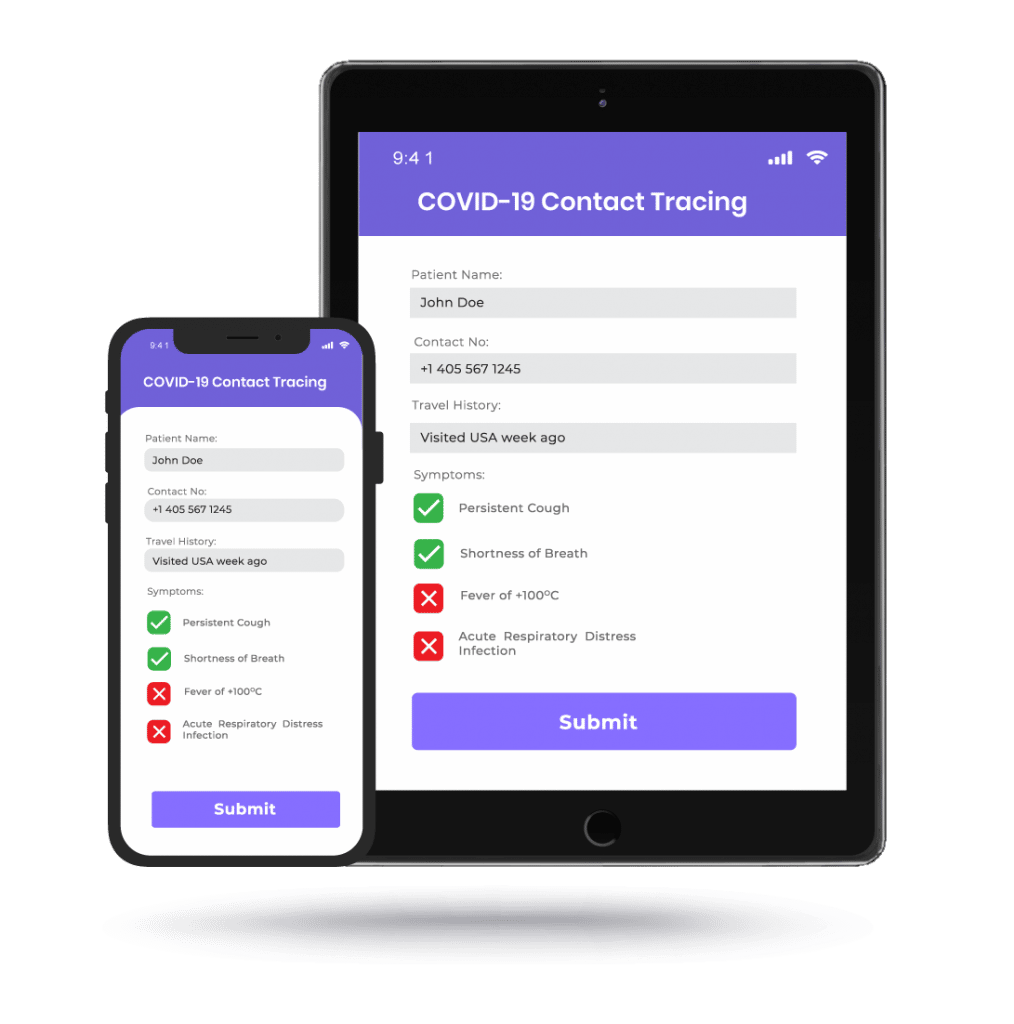 COVID-19 Contact Tracing App for & Tablet