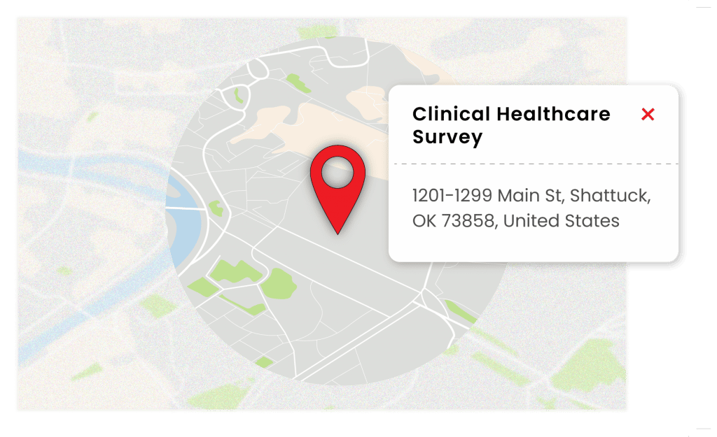 healthcare survey software with Geographic Information